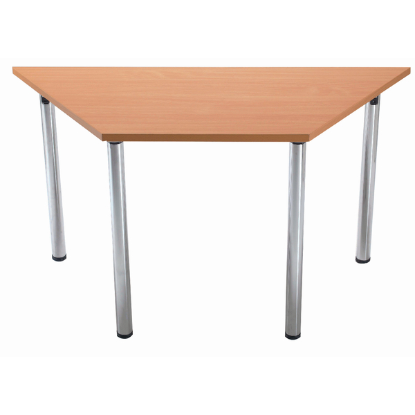 Jemini Beech Trapezoidal Meeting Room Table Folding Leg KF838577