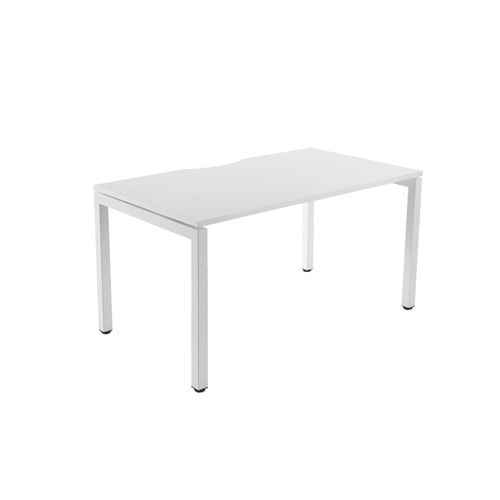 Arista 1600mmx800mm Bench Desking System 1 Person Starter Kit White (Pack of 1) KF838599