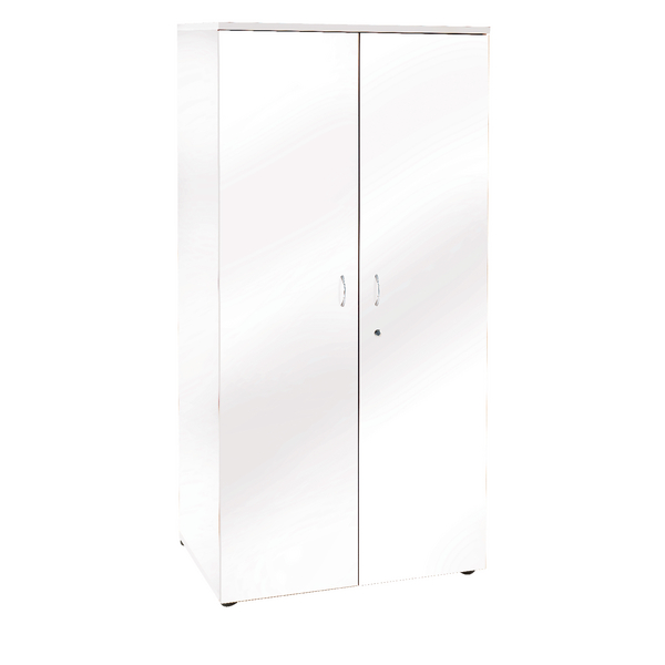 Jemini White 1800mm Cupboard 4 Shelves KF838621