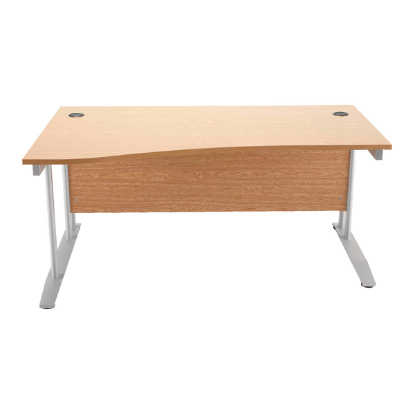 Arista Oak 1600mm Wave Desk Left Hand KF838642
