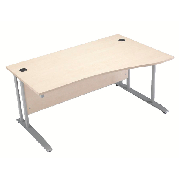 Arista Right Hand Maple 1600mm Wave Desk KF838645