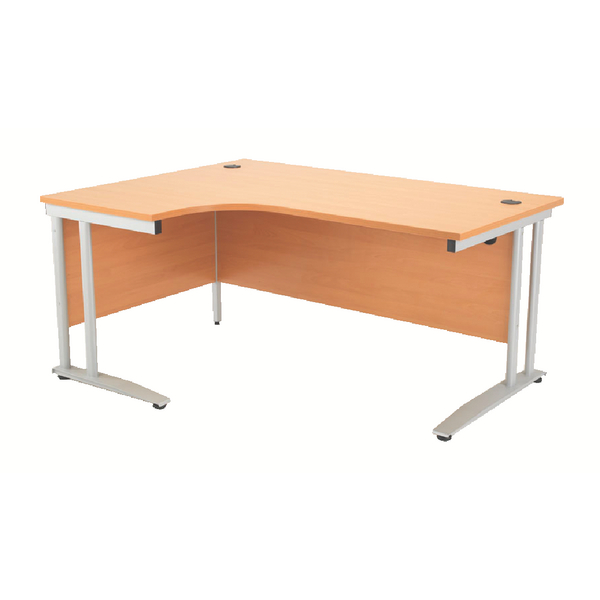 Arista Left Hand Beech 1600mm Radial Desk KF838652
