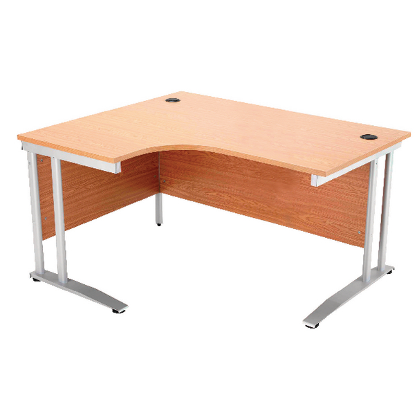 Arista Oak 1600mm Radial Desk Left Hand KF838654