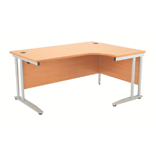 Arista Right Hand Beech 1800mm Radial Desk KF838659