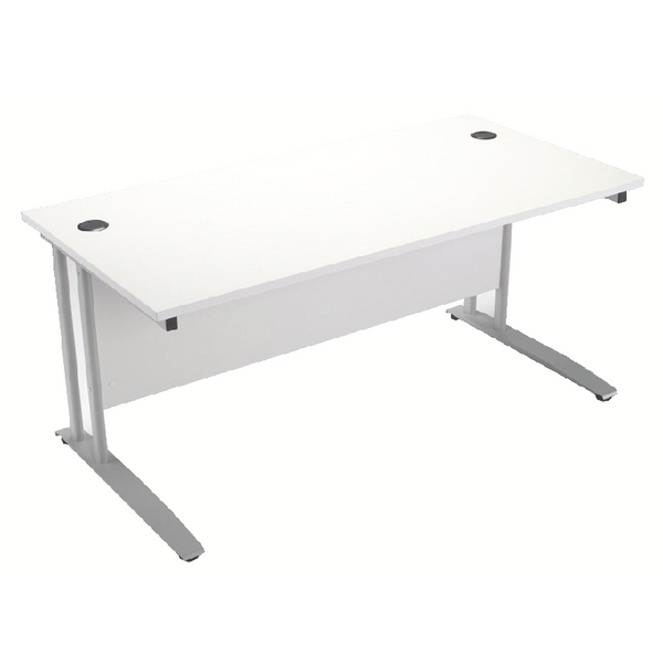 Arista White 1600mm Rectangular Desk KF838677
