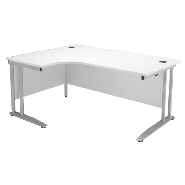 Arista White 1600mm Left Hand Radial Desk KF838690