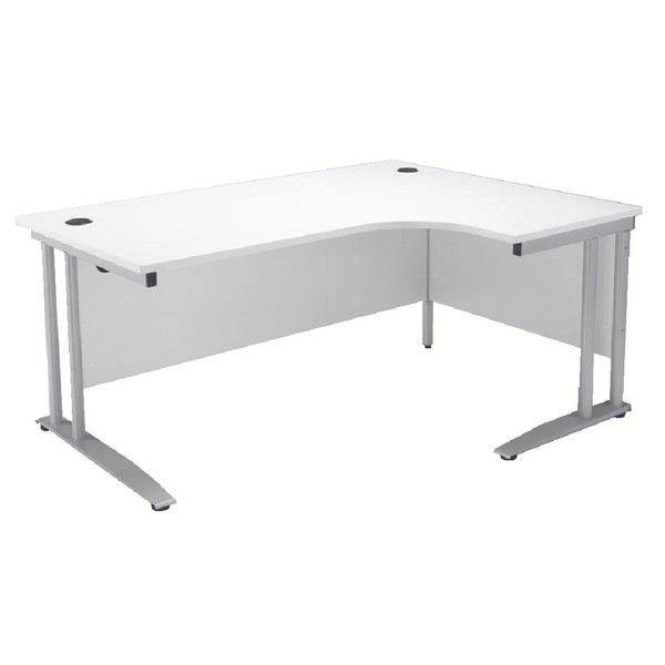Arista White 1600mm Right Hand Radial Desk KF838691
