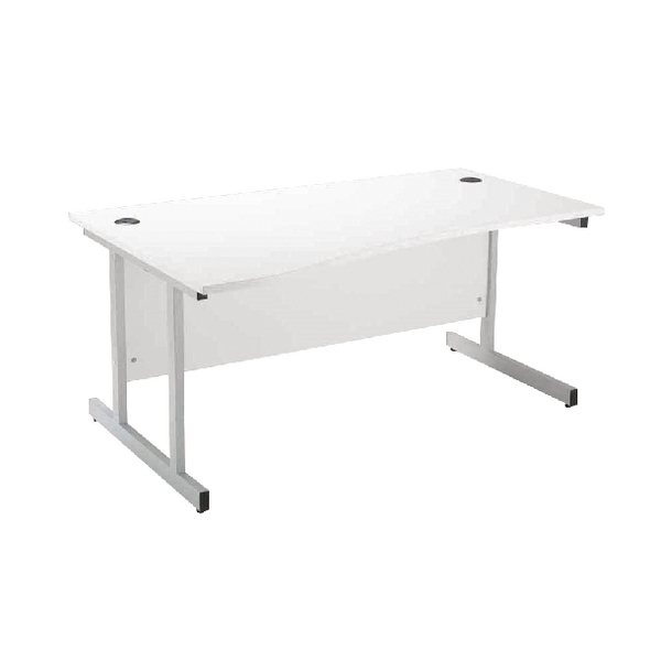 Jemini White 1600mm Left Hand Wave Workstation KF838695