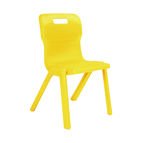 Titan One Piece Chair 430mm Yellow (10 Pack) KF838703