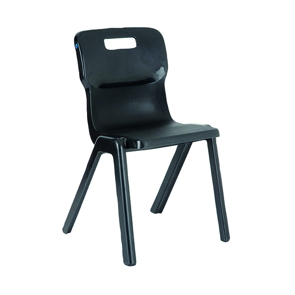 Titan 1 Piece 380mm Charcoal Chair (10 Pack) KF838716