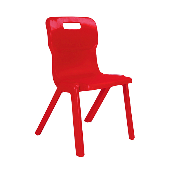 Titan One Piece Chair 460mm Red (10 Pack) KF838718