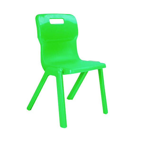 Titan One Piece Chair 430mm Green (30 Pack) KF838725