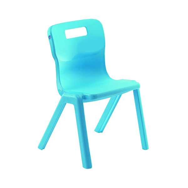 Titan One Piece Chair 460mm Blue (30 Pack) KF838744