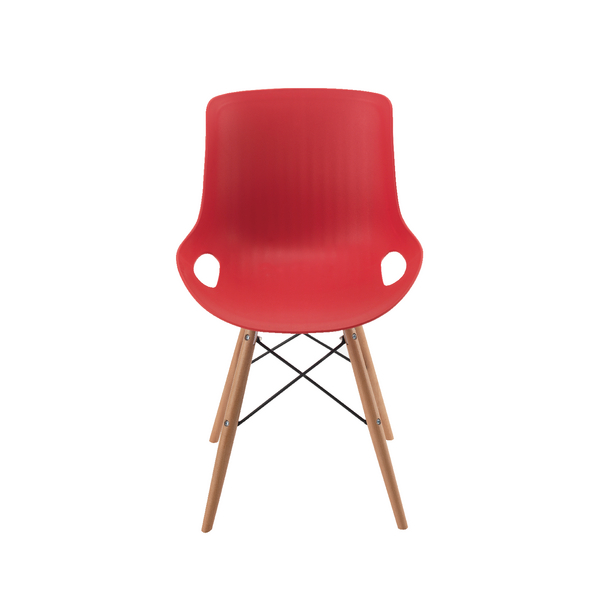 Jemini 4 Leg Wire Base Red Breakout Chair KF838765