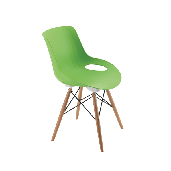 Jemini 4 Leg Wire Base Green Breakout Chair KF838767