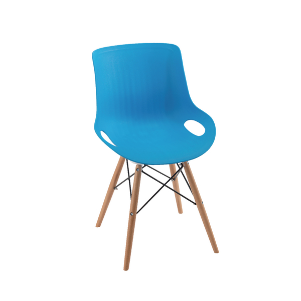 Jemini 4 Leg Wire Base Blue Breakout Chair KF838768