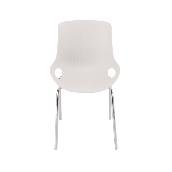 Jemini White 4 Leg Breakout Chair Chrome Legs KF838769
