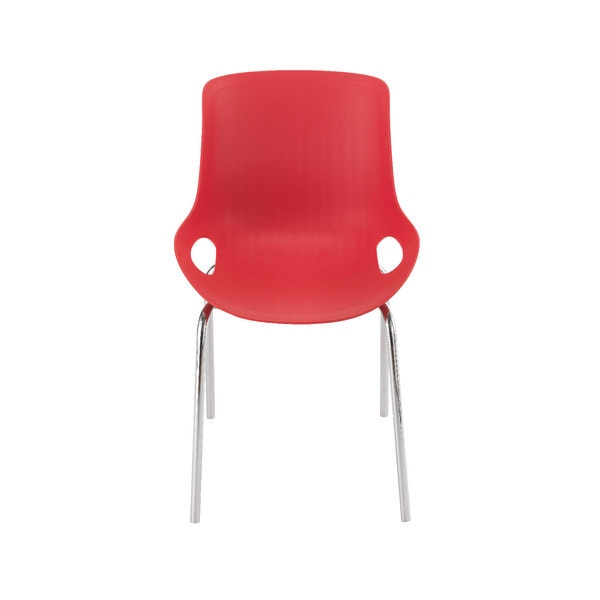 Jemini Red Breakout Chair 4 Chrome Legs KF838770