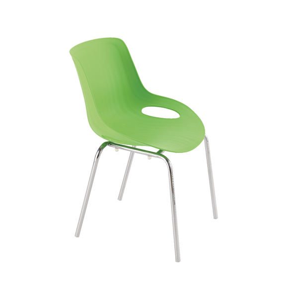 Jemini Green Breakout Chair 4 Chrome Legs KF838771