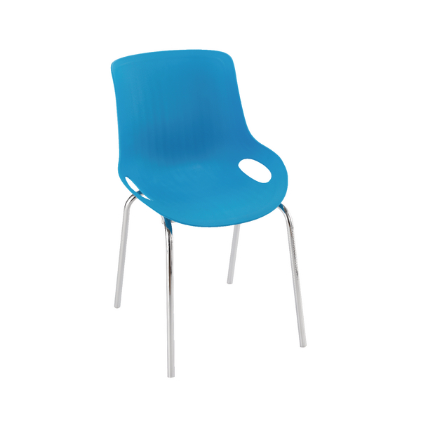 Jemini Blue Breakout Chair 4 Chrome Legs KF838772