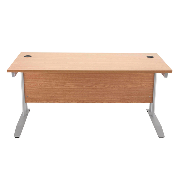 Arista Cantilever 1400mm Oak Rectangular Desk KF838787