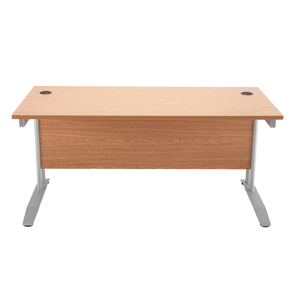 Arista Cantilever 1400mm Maple Rectangular Desk KF838788