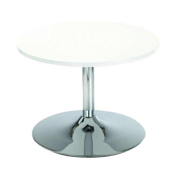 Arista White Low Bistro Table With Trumpet Base KF838812