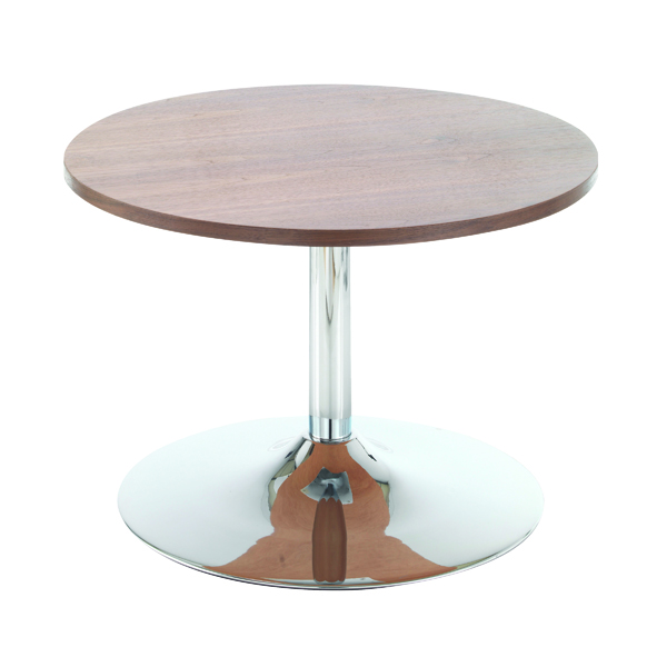 Arista Walnut Low Bistro Table With Trumpet Base KF838814