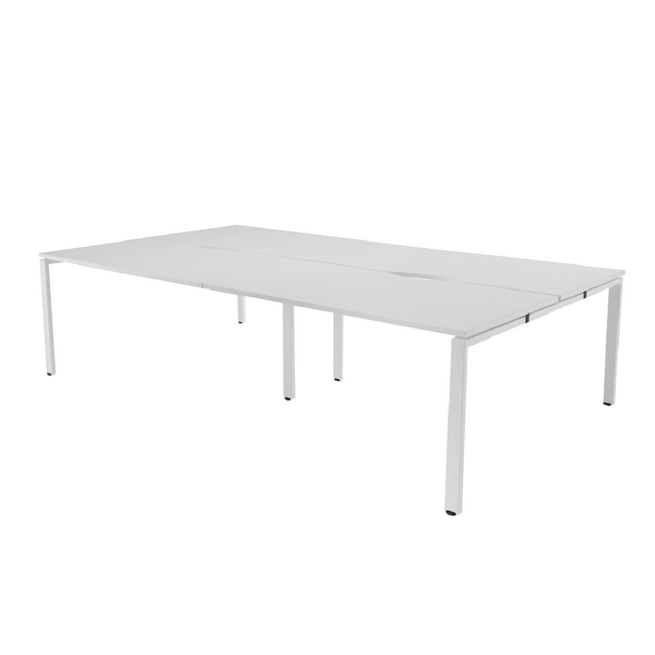 Arista White 1200mm 4 Person Bench System KF838958