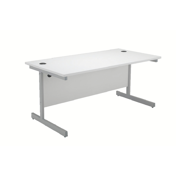 Jemini White 1600mm Cantilever Rectangular Desk KF839101