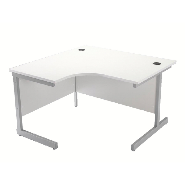 Jemini White 1200mm Left Hand Cantilever Radial Desk KF839103