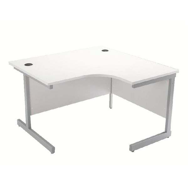 Jemini White 1200mm Right Hand Cantilever Radial Desk KF839104