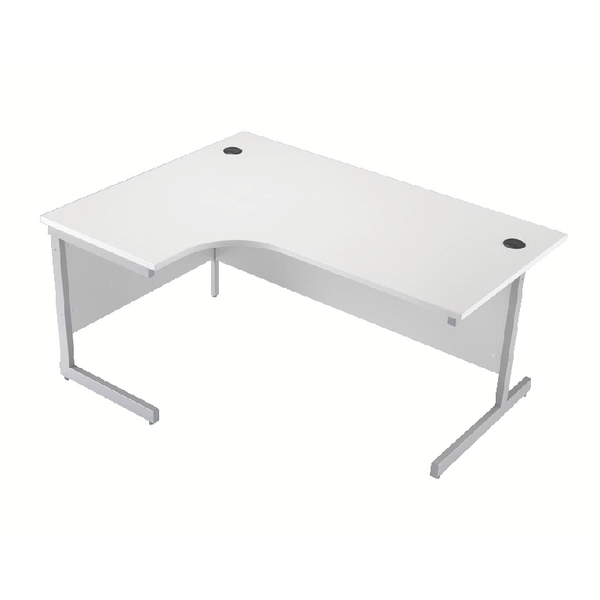 Jemini White 1600mm Left Hand Cantilever Radial Desk KF839105
