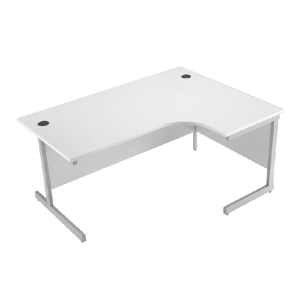 Jemini White 1600mm Right Hand Cantilever Radial Desk KF839106