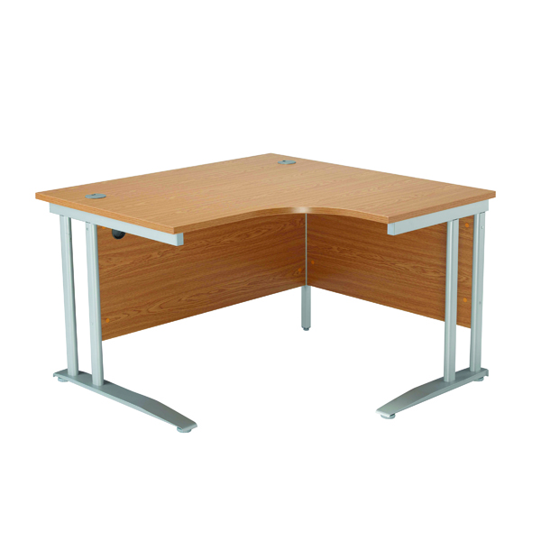 Arista 1200mm LH Cantilever Radial Desk Maple KF839279