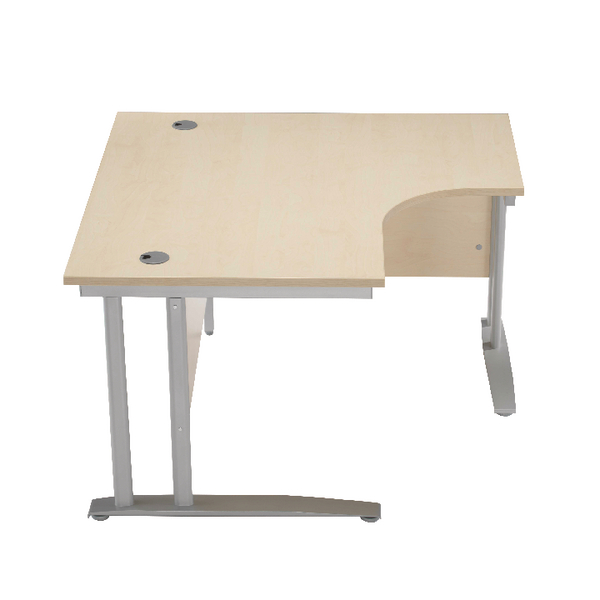 Arista 1200mm LH Cantilever Radial Desk Oak KF839280