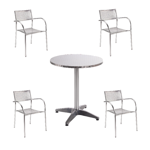 Arista Aluminium Bistro Table and Chairs Bundle KF839474