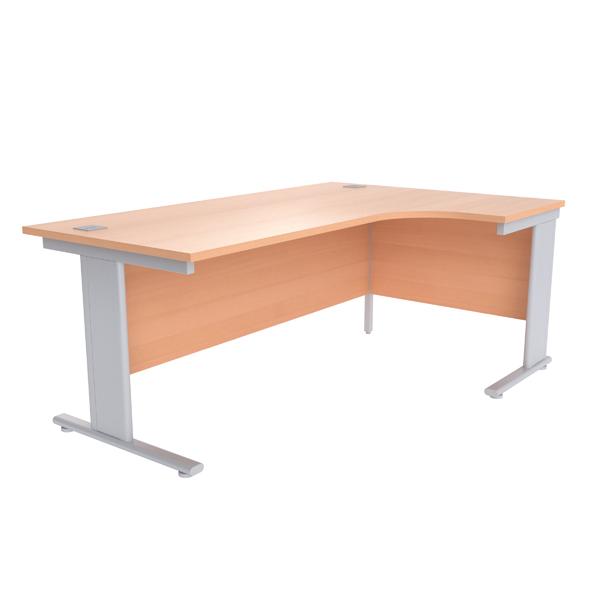 Jemini Beech//Silver 1600mm Rectangular Cantilever Desk KF838078