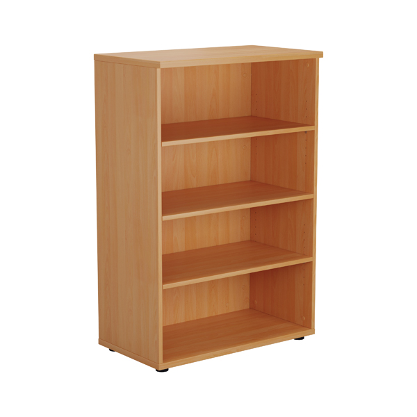 Jemini Beech 1200mm 1 Shelf Bookcase KF840133