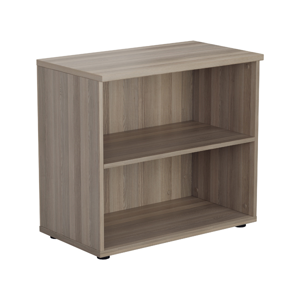 Jemini Grey Oak 730mm 1 Shelf Bookcase KF840146