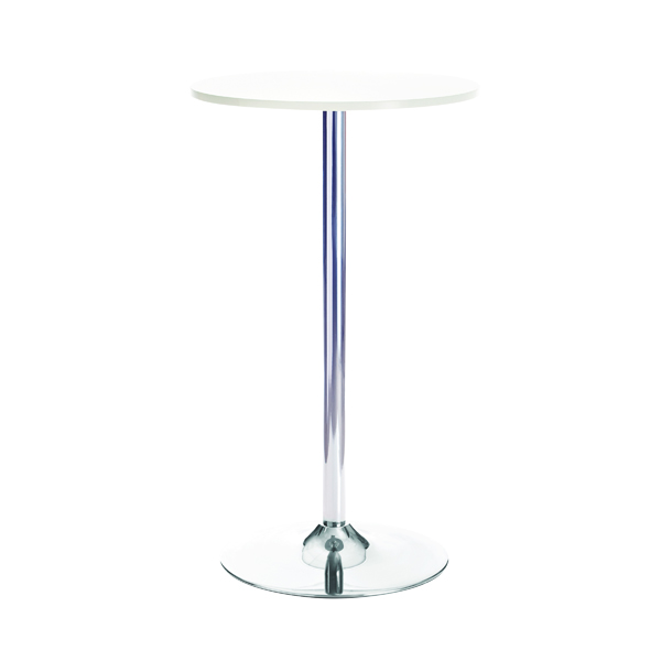 Jemini Tall Bistro Trumpet Table 600mm White/Chrome KF840209