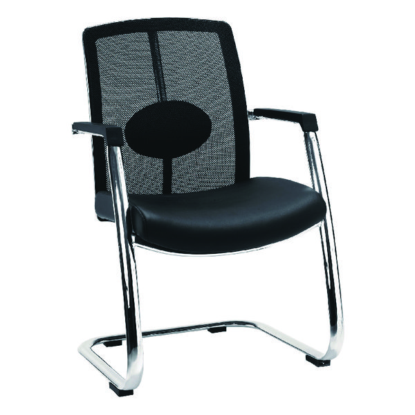 Avior Black Mesh Back Executive Visitor Chair KF97084