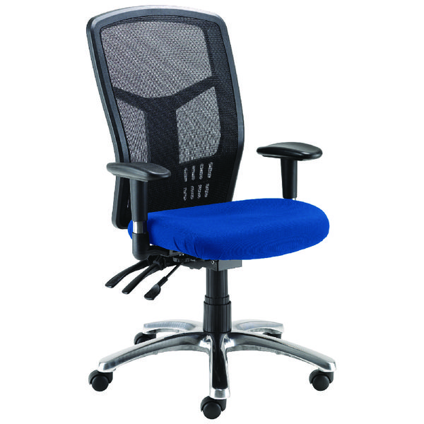 Avior Logan High Back Mesh Operator Blue Chair KF97088