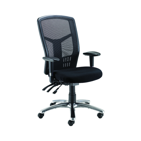 Avior Logan High Back Mesh Operator Black Chair KF97089