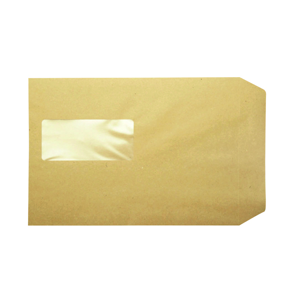 Q-Connect Pocket C5 Window Envelope 115gsm Manilla Peel and Seal (500 Pack) KF97370