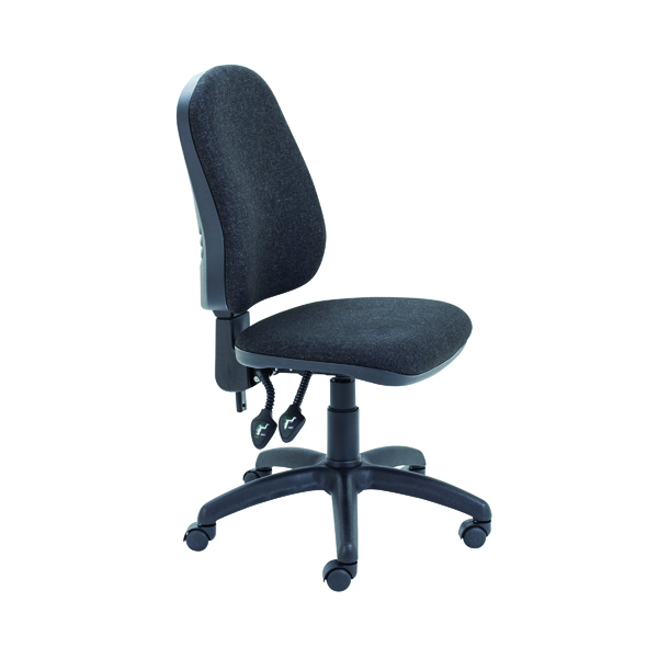 First High Back Operators Chair Charcoal KF98507