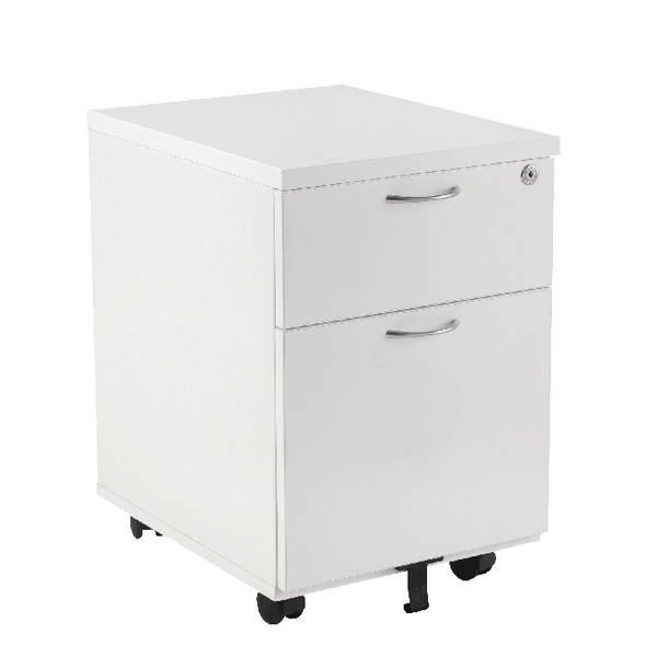 First Mobile Under Desk Pedestal 2 Drawer White KF98509