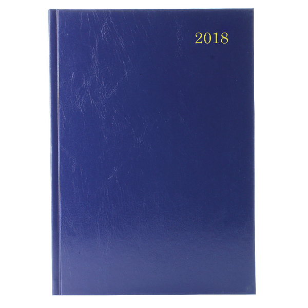 2018 Blue Desk A4 Diary 2 Days Per Page KFA42BU18