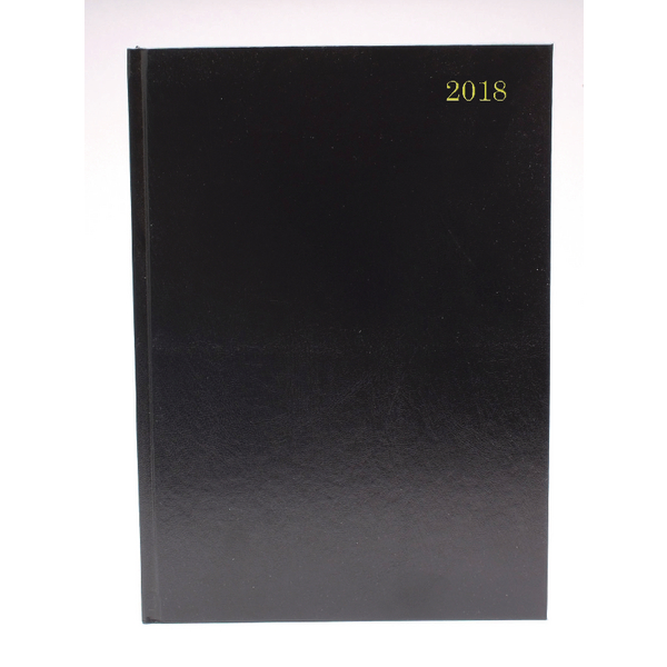 Black A4 Week To View 2018 Desk Diary KFA43BK18