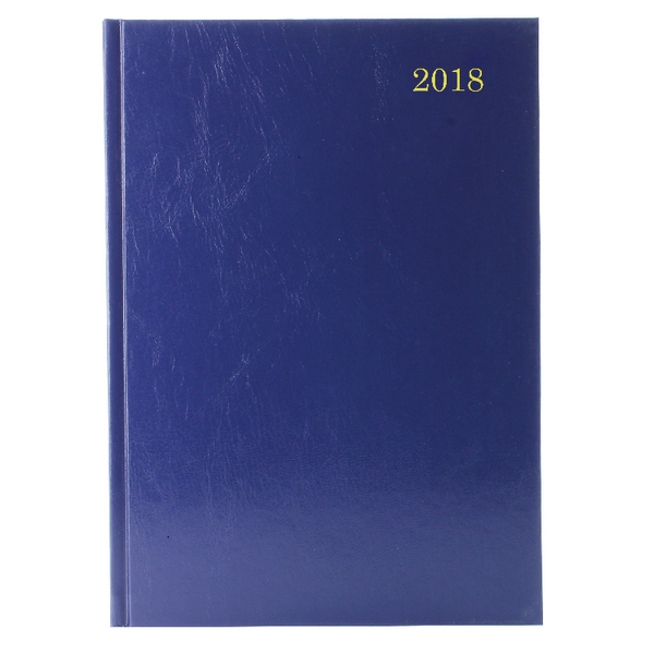 Blue A4 Week To View 2018 Desk Diary KFA43BU18